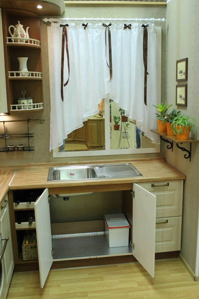 Белый кухонный гарнитур-Кухня МДФ в ПВХ «Модель 128»-фото10