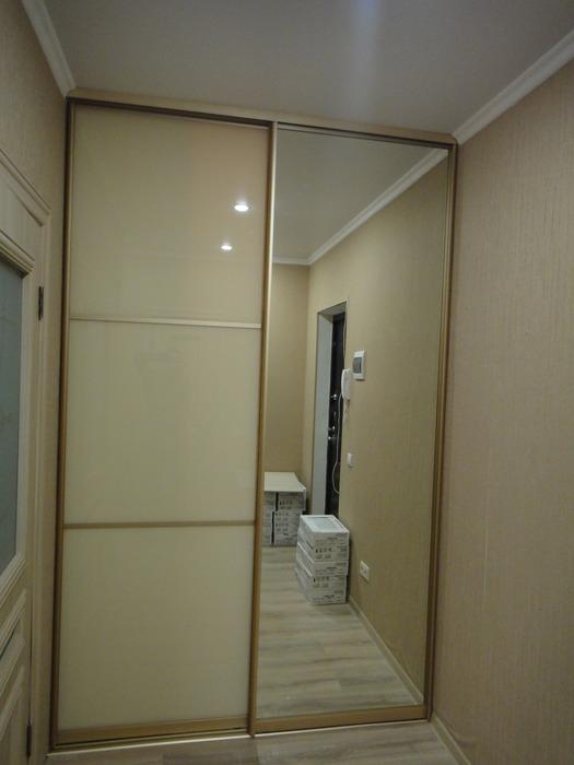 Белые шкафы-купе-Шкаф-купе с зеркалом «Модель 176»-фото2