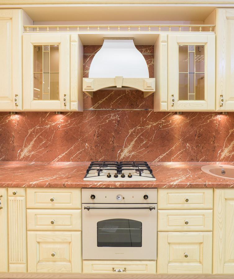 Белый кухонный гарнитур-Кухня из массива «Модель 57»-фото2