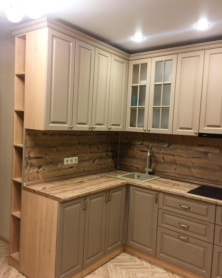 Классические кухни-Кухня МДФ в ПВХ «Модель 62»-фото4