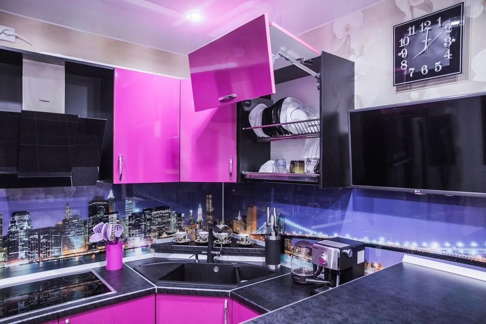 Акриловые кухни-Кухня МДФ в эмали «Модель 115»-фото1