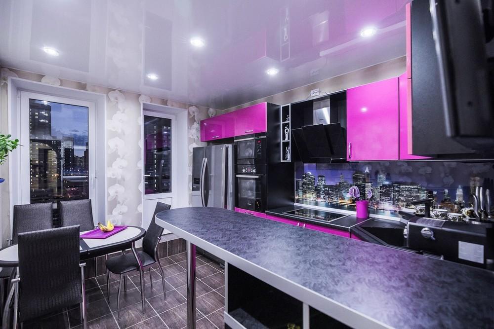 Акриловые кухни-Кухня МДФ в эмали «Модель 115»-фото3