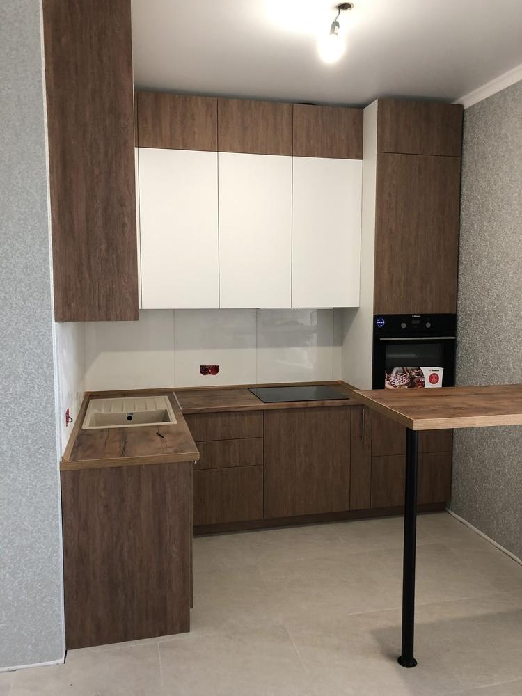 Высокие кухни под потолок-Кухня МДФ в ПВХ «Модель 73»-фото1