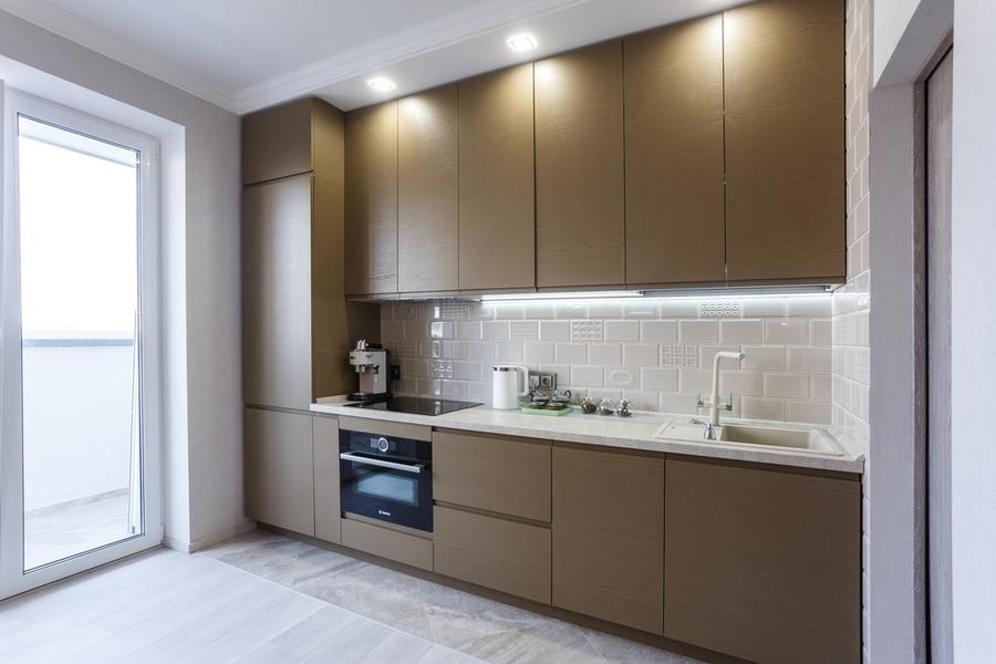 Встроенная кухня-Кухня из ЛДСП «Модель 425»-фото3