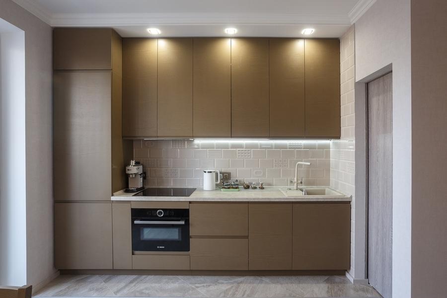 Встроенная кухня-Кухня из ЛДСП «Модель 425»-фото2