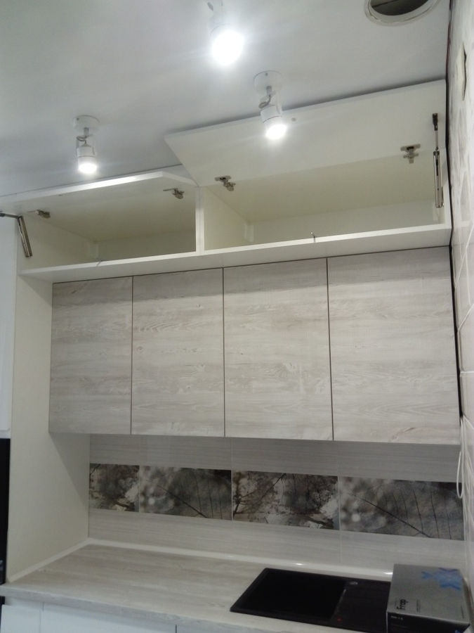 Белый кухонный гарнитур-Кухня МДФ в эмали «Модель 429»-фото5