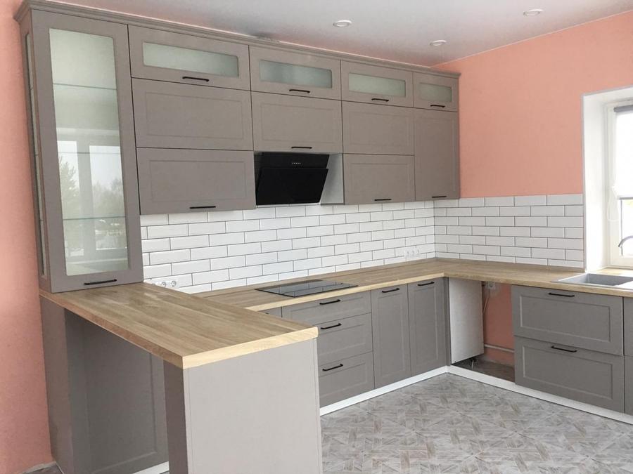 Классические кухни-Кухня МДФ в ПВХ «Модель 441»-фото2