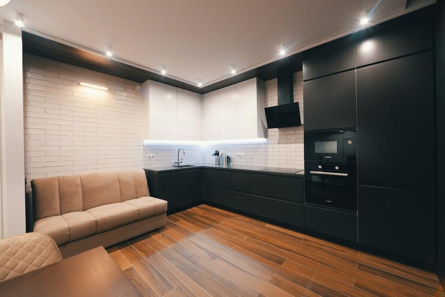 Дорогие и элитные кухни-Кухня МДФ в эмали «Модель 463»-фото1
