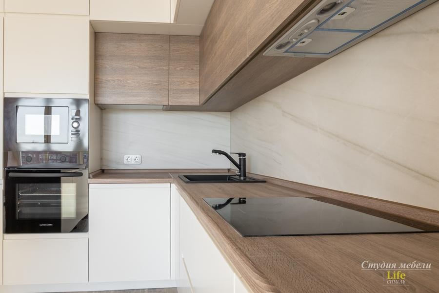 Белый кухонный гарнитур-Кухня из ЛДСП «Модель 424»-фото5