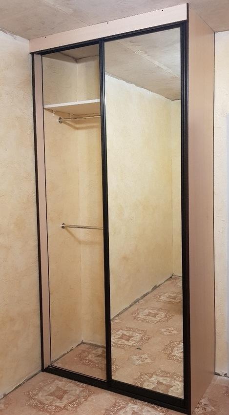 Бельевой шкаф-купе-Шкаф-купе с зеркалом «Модель 340»-фото3