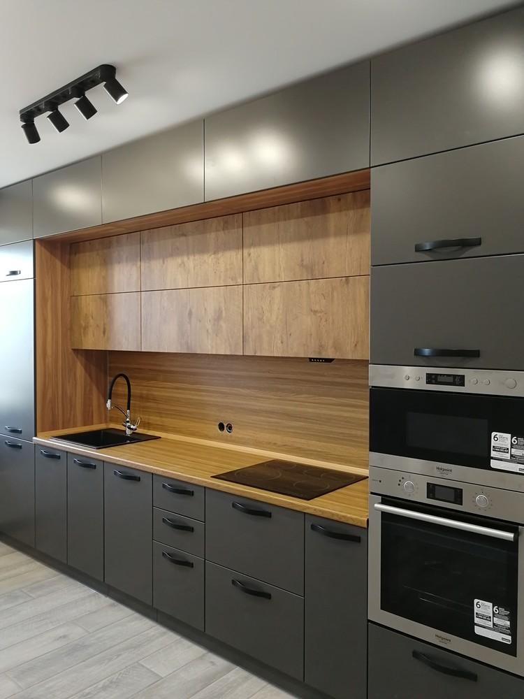 Встроенная кухня-Кухня МДФ в ПВХ «Модель 521»-фото1