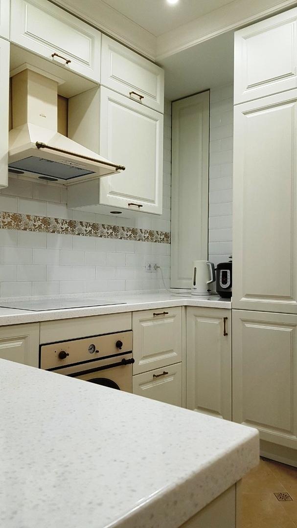 Белый кухонный гарнитур-Кухня МДФ в ПВХ «Модель 531»-фото6
