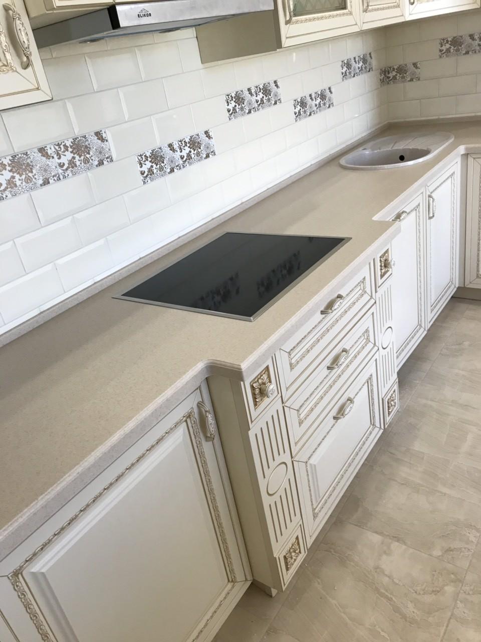 Белый кухонный гарнитур-Кухня МДФ в ПВХ «Модель 535»-фото5