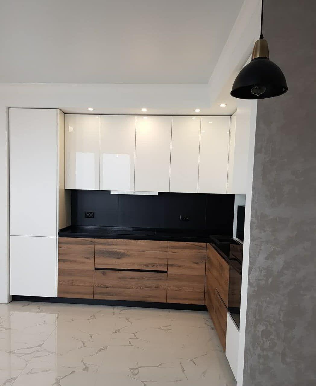 Белый кухонный гарнитур-Кухня МДФ в эмали «Модель 629»-фото2