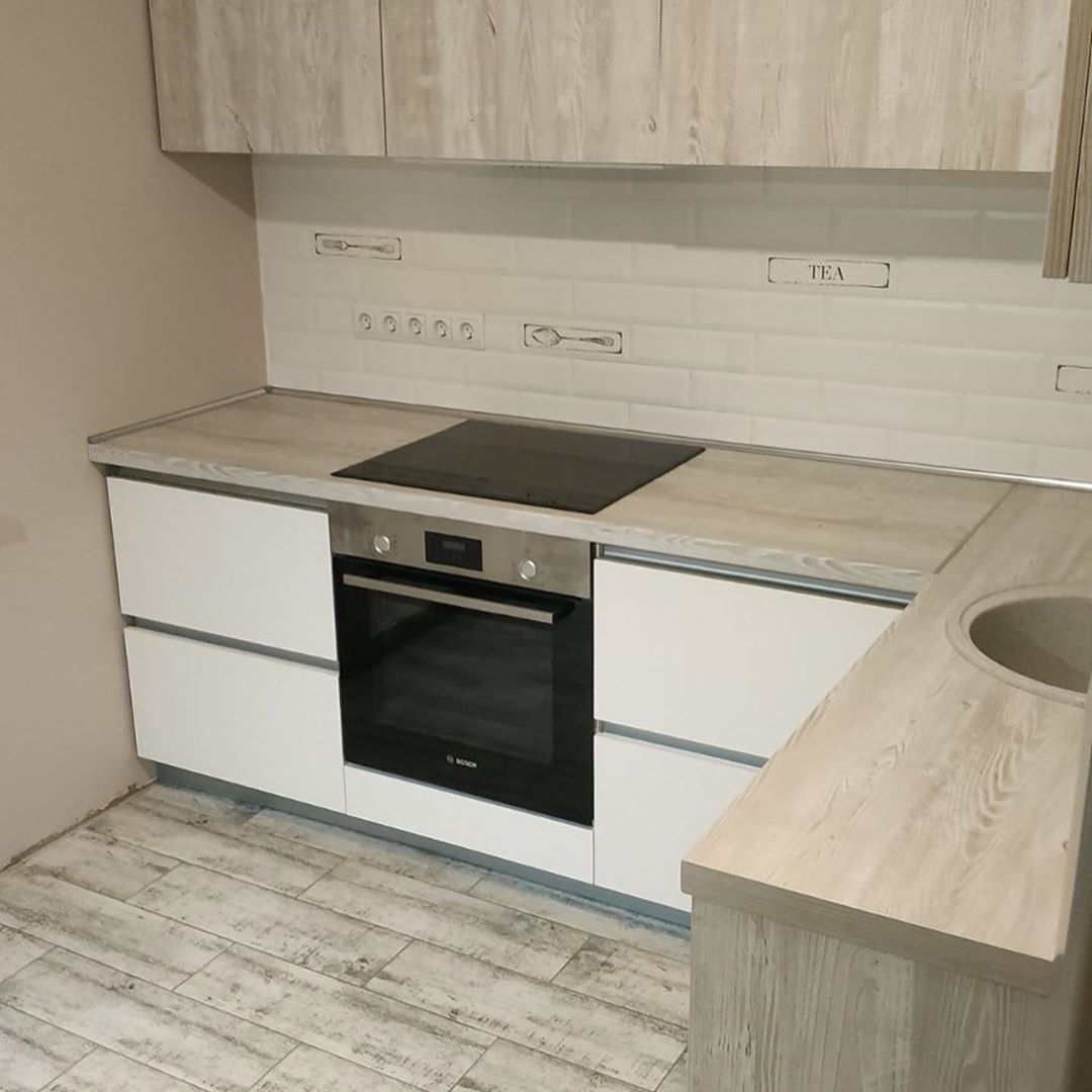 Белый кухонный гарнитур-Кухня из ЛДСП «Модель 626»-фото2