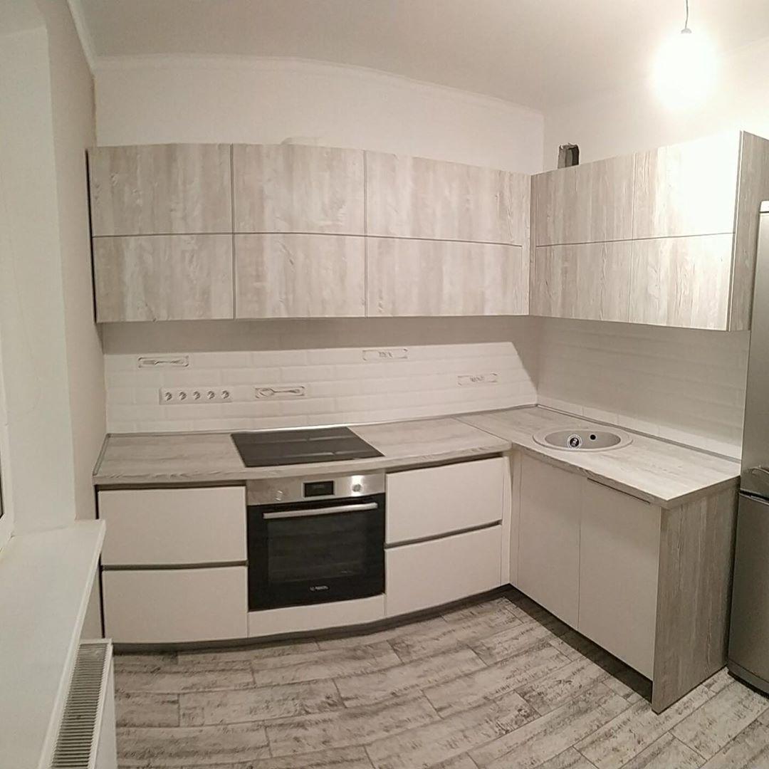 Белый кухонный гарнитур-Кухня из ЛДСП «Модель 626»-фото1