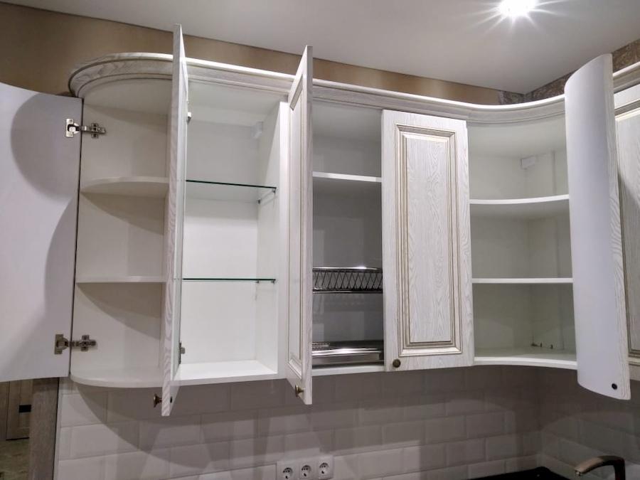 Белый кухонный гарнитур-Кухня из шпона «Модель 581»-фото9