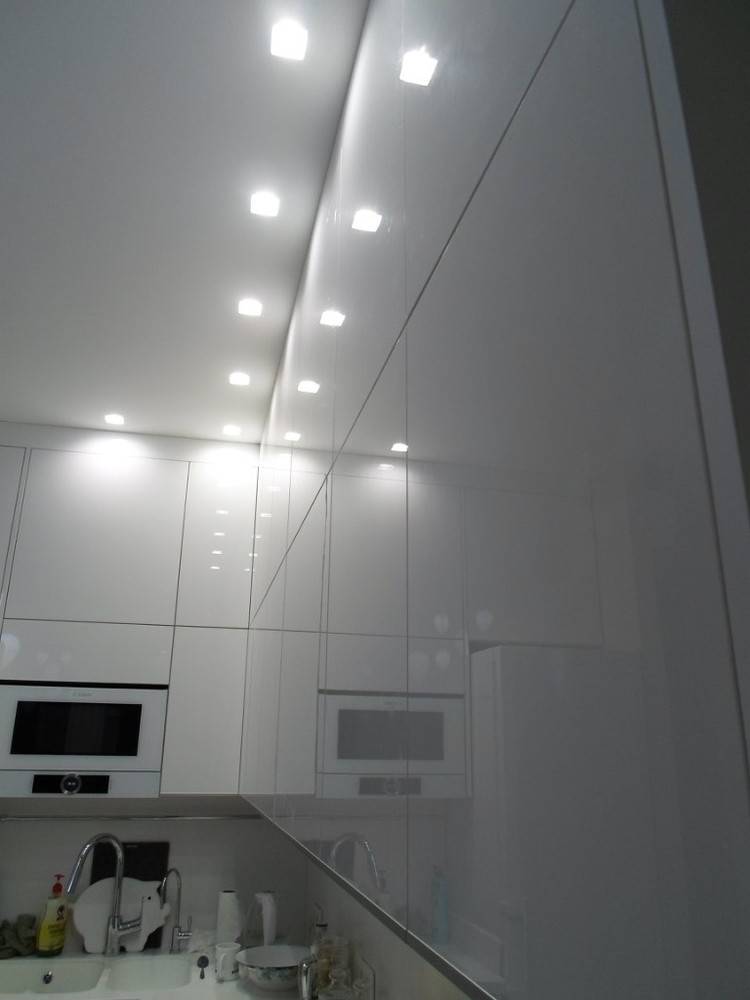Акриловые кухни-Кухня МДФ в эмали «Модель 203»-фото8