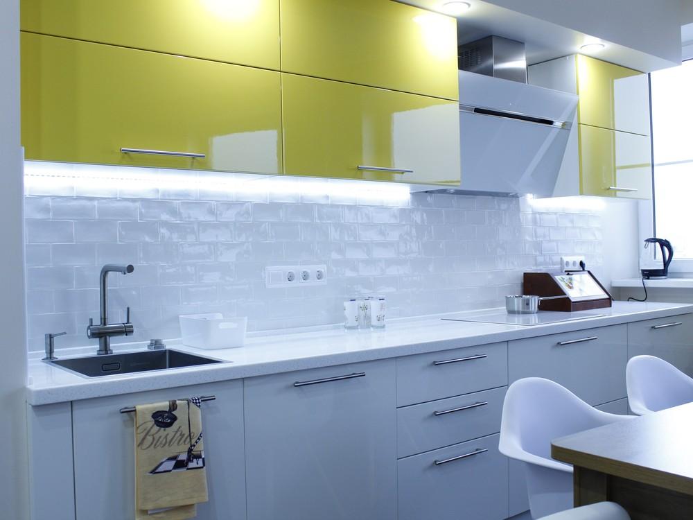 Встроенная кухня-Кухня МДФ в эмали «Модель 200»-фото4