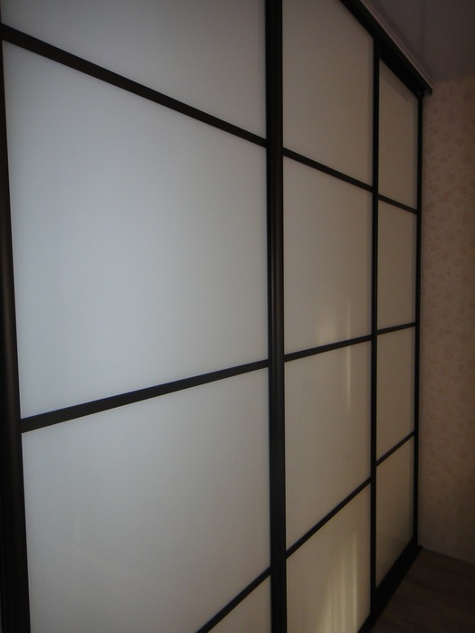 Большой шкаф-купе-Шкаф-купе из стекла Лакобель «Модель 178»-фото4