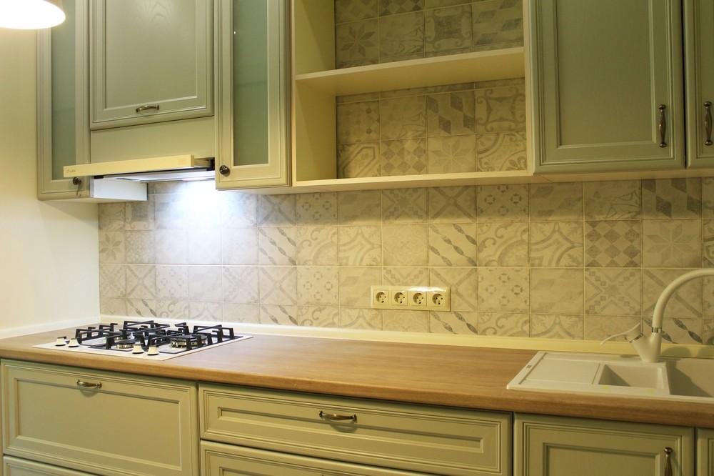 Встроенная кухня-Кухня из массива «Модель 172»-фото2