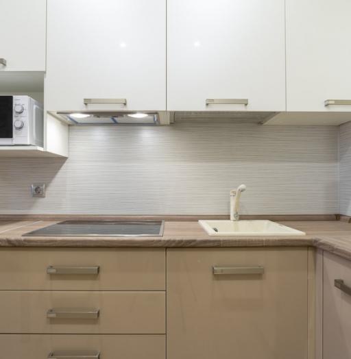 Бежевые кухни-Кухня из пластика «Модель 1»-фото10
