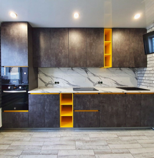 -Кухня МДФ в ПВХ «Модель 536»-фото24